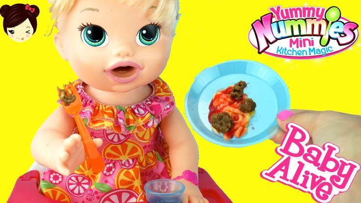 Baby Alive Come Comida De Verdad - Sara Comiditas Divertidas Yummy Nummies