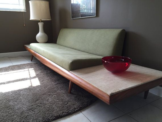 mid century adrian pearsall platform sofa with by