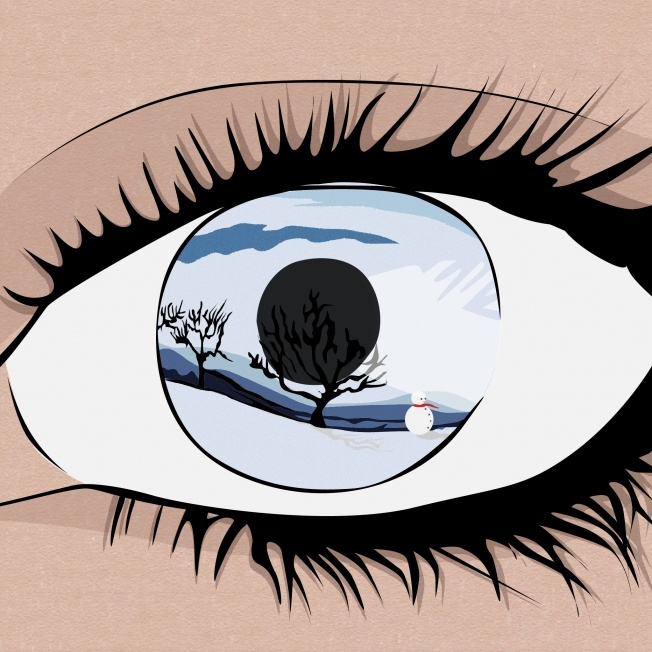 Students draw their eye then a favorite place?  original from Kat Loveday