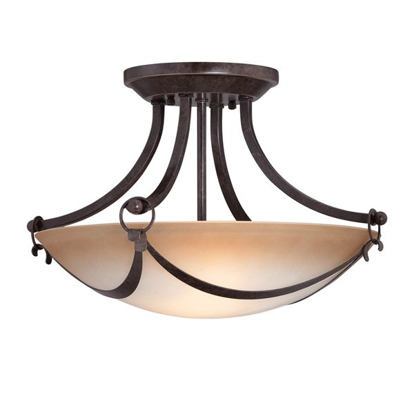 Shop allen + roth  15-1/2-in Drape Semi-Flush Mount Light at Lowe's Canada. Find our selection of semi flush ceiling lights at the lowest price guaranteed with price match + 10% off.