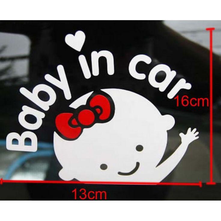 Baby in car autó matrica