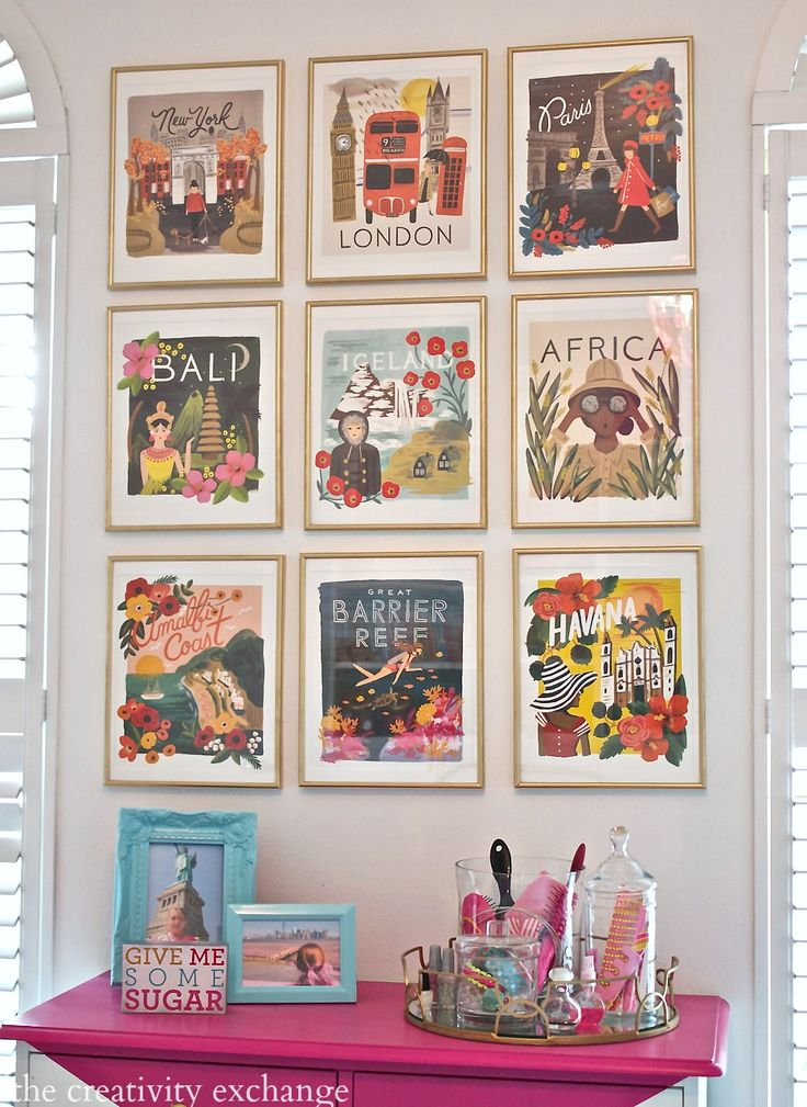 Turn wall calendar art into beautful gallery walls.  An inexpensive solution. Tutorial from The Creativity Exchange