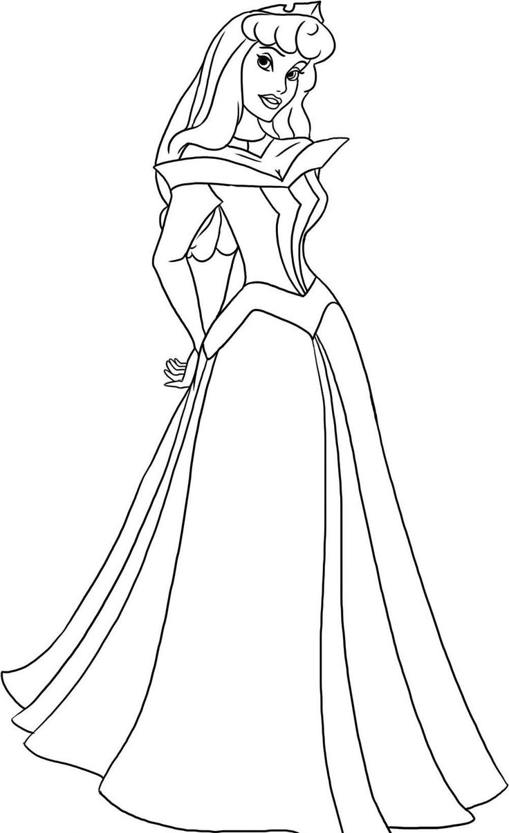 Free coloring pages aurora - Disney Princess Are Dreamy Coloring Page