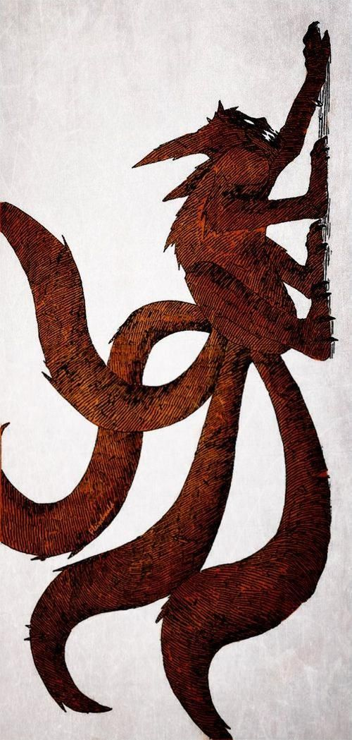 Four Tails version of transformation in Kyūbi [Naruto as Jinchūriki during transformation]
