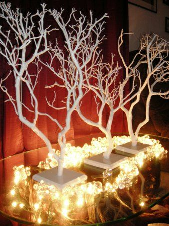 tree branch centerpiece | Centerpiece, Wedding, Branch, Decoration, Tree, Manzanita, Manzanita ...