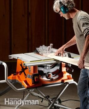 Portable Table Saw Reviews: Getting Dad a new table saw for #FathersDay? Read our reviews first: http://www.familyhandyman.com/tools/table-saws/portable-table-saw-reviews/view-all