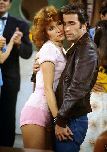 The Fonz & Pinky Tuscadero! When's the last time you heard that name?! #happydays