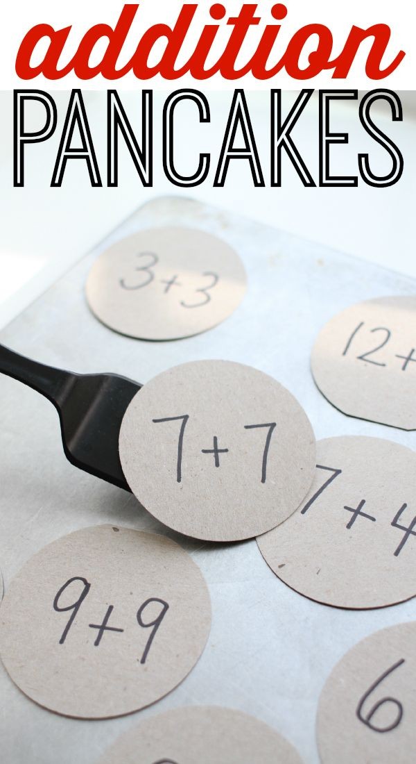 Addition Pancakes! A fun and creative way to practice math facts!