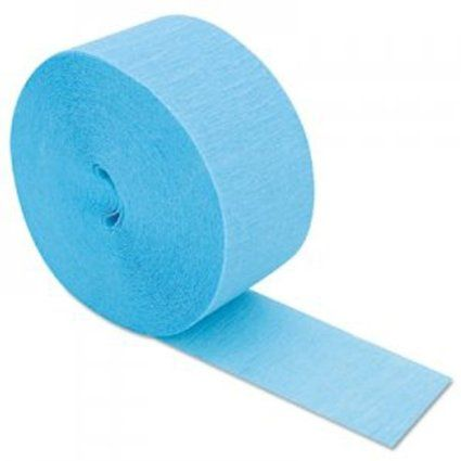 """myLife (TM) Bright Electric Blue - Crepe Paper Roll Streamer """"Decoration and Craft Supply"""" 81 Feet / 24.7 Meters (Lifetime Warrant..."""