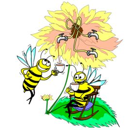 Turns out humans are not the only ones enjoying the brain boosting, mood lifting powers of the caffeine molecule.  Bees appear to also enjoy the benefits of a sip or two of caffeine.  Read more.