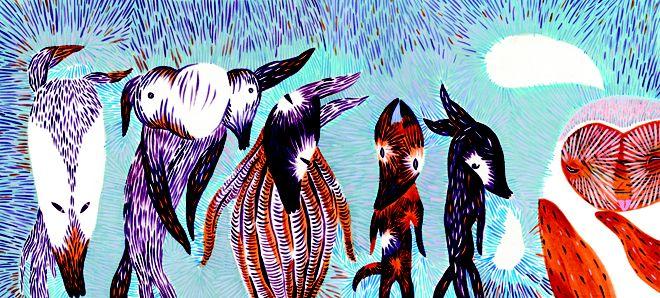 Vysokokvalitná reprodukcia.Giclée print - pigmentová tlač, rozmer cca 50x23 cm. Daniela Olejníková - Liek pre Vĺčika Útla knižka pre deti a ich rodičov o sile priateľstva v nepohode a o tom, že cesta býva občas cieľom.
