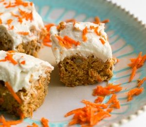 Carrot Cake with coconut cream cheese frosting