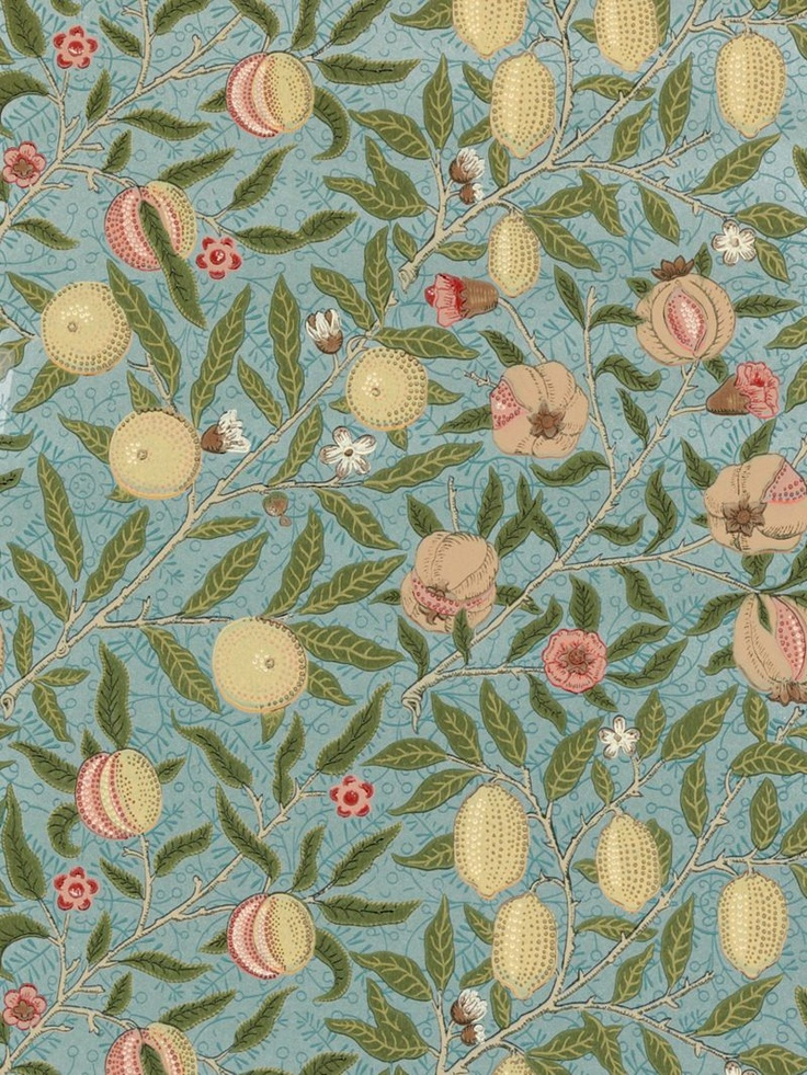 Sanderson Wallpaper Morris & Co Fruit, Slate / Thyme