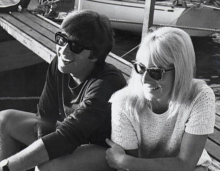John Lennon and his ex-wife Cynthia Powell.