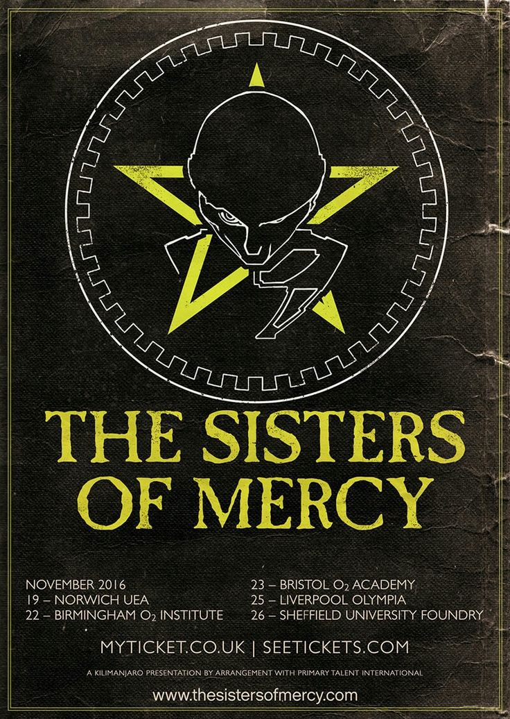 the sisters of mercy UK tour 2016