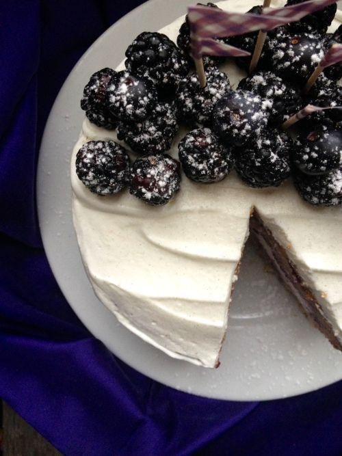 Layer cake à la myrtille