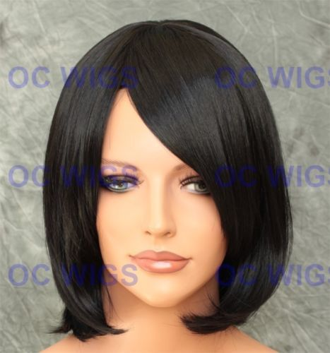 Off Black Short Straight Bob Synthetic Wig Anika in 1B in Health &…