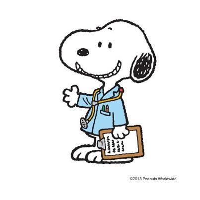 Doctor Beagle, hmmm perhaps Nurse Practitioner Snoopy.