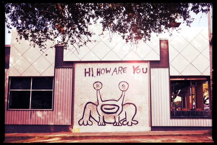 The daniel johnston mural in austin tx music for Daniel johnston mural austin