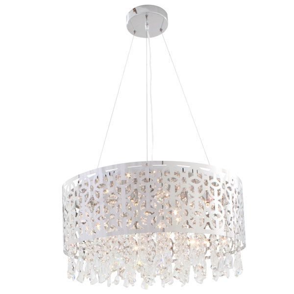 Eurolux P372 - Round Chrome Inside out Crystal Pendant with Adjustable Cable Suspension