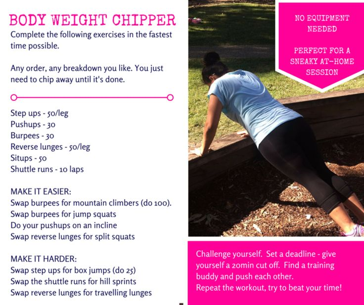 Free workouts and exercise tips from Brisbane female personal trainer.