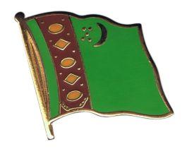 Turkmenistan flag pin