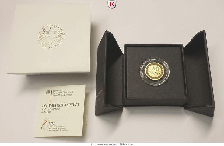 RITTER BRD,50 Euro 2017,Lutherrose,Münzstätte Ihrer Wahl (D,F,G,J),1/4 Unze Gold #coins