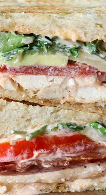 Chicken Avocado Bacon Sandwich Melt