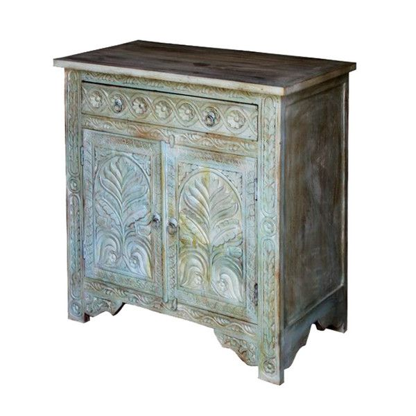 Carved Sideboard Rustic Turquoise  http://www.theimporter.co.nz/collections/new