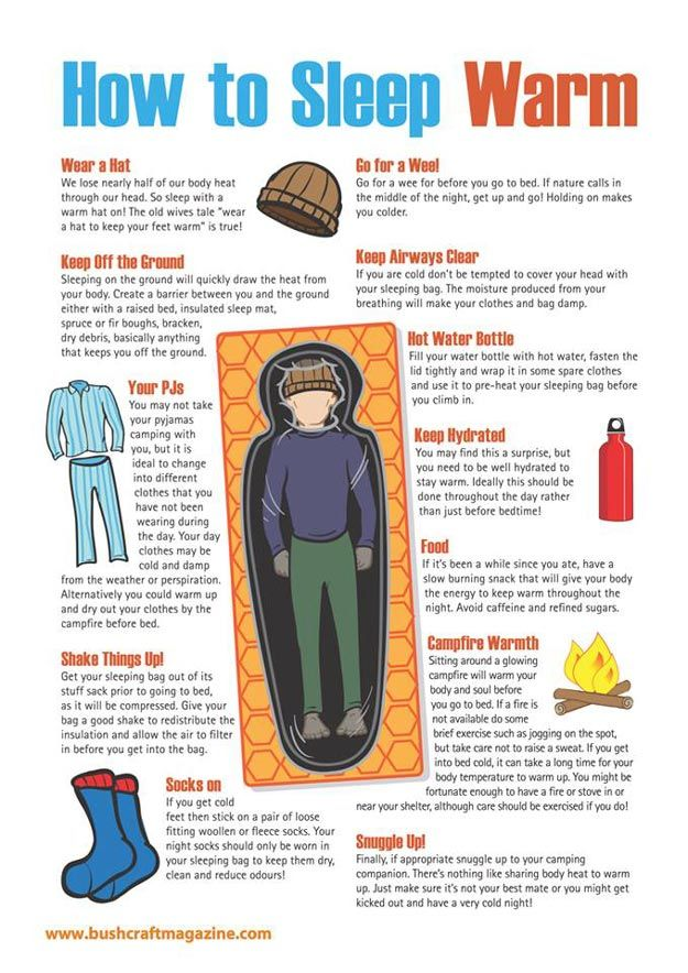 How to Stay Warm in Sleeping Bags While You're Outdoors | Best Camping Tips by Pioneer Settler at http://pioneersettler.com/how-to-stay-warm-in-sleeping-bags/