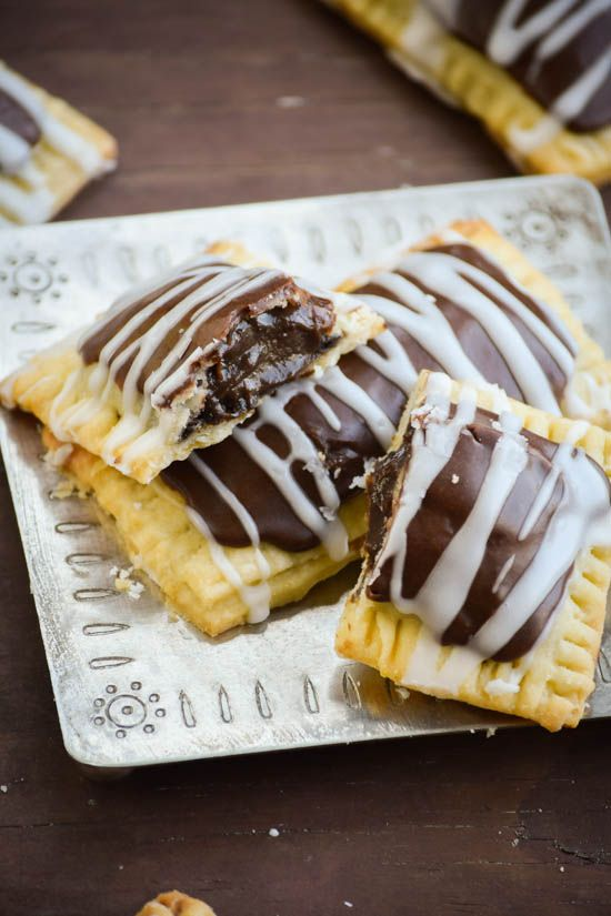 Chocolate Mousse Filled Pop-Tarts. I don't know if I should put this with breakfast or pies......