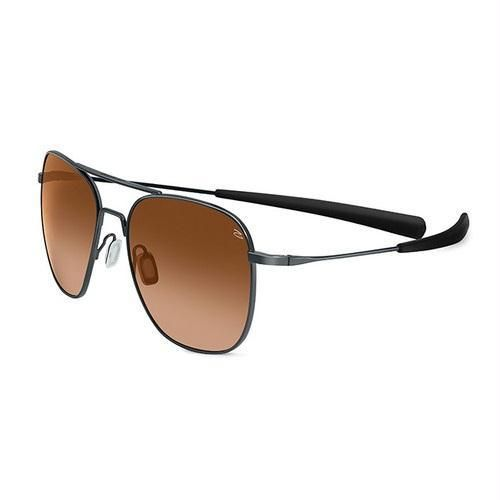 Serengeti Sunglasses Aerial Shiny Gunmetal Drivers