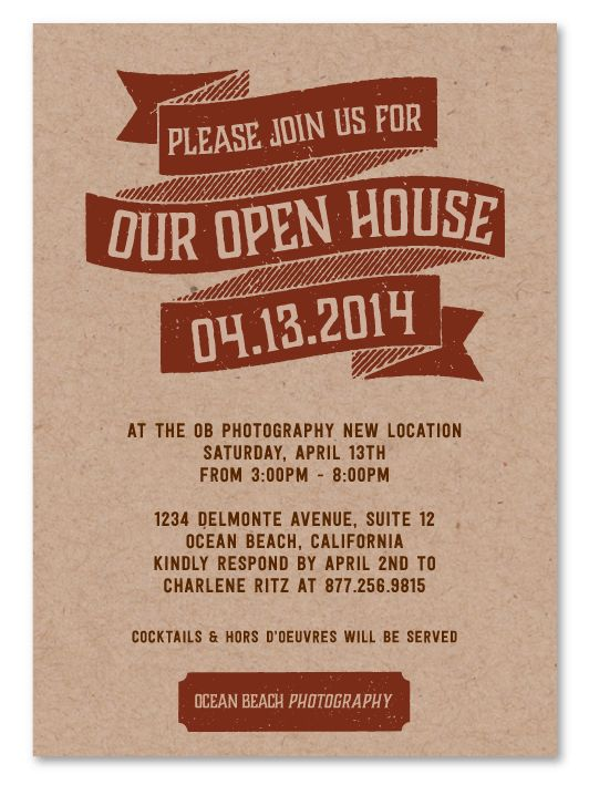 20 best Open House Business Invitations images on Pinterest