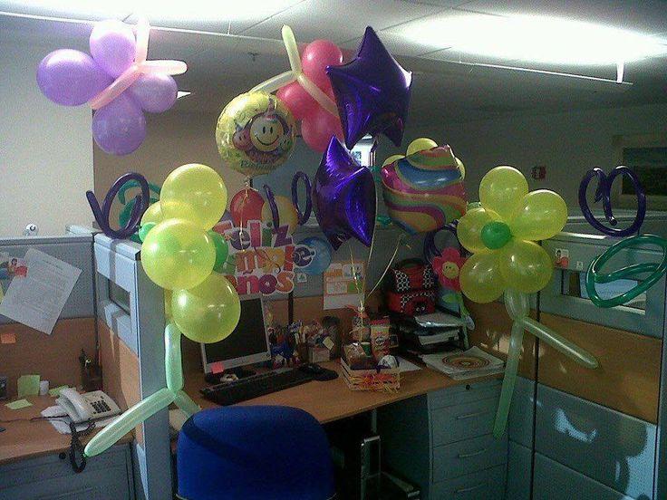 Celebraci n godinez cumplea os en la oficina fiesta for Decoracion cubiculo oficina