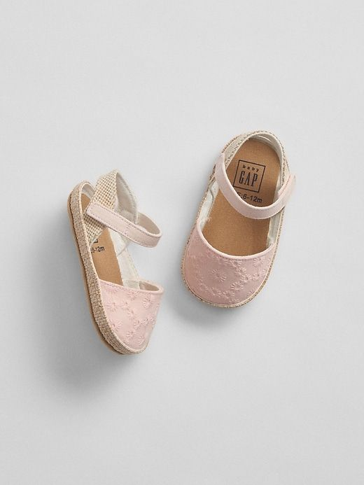 174c972a8d7d7e Gap Baby Eyelet Espadrille Sandals Pink Cameo | Products ...