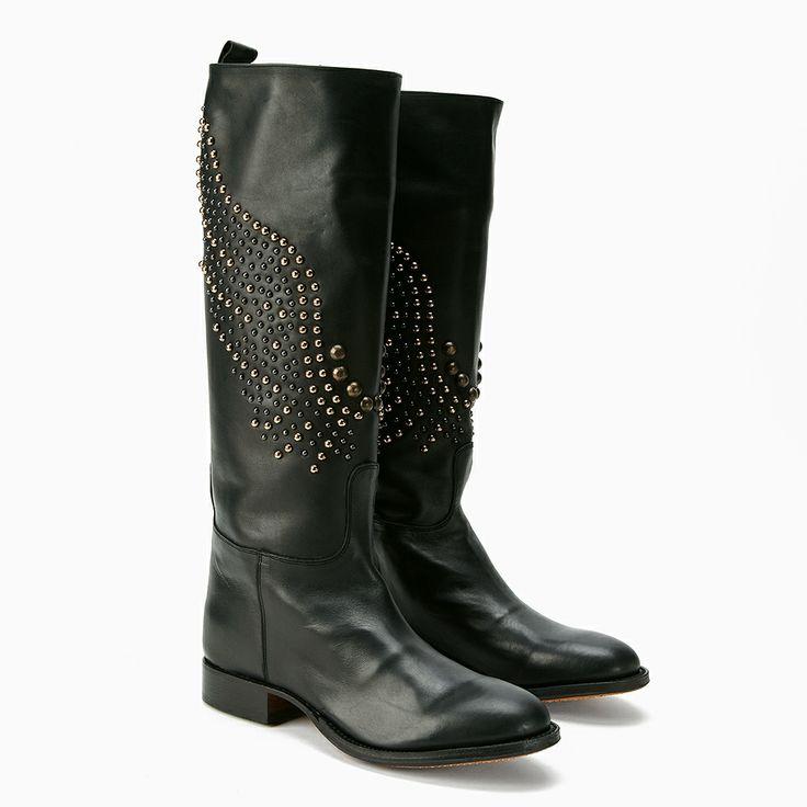 Zwarte Leren laarzen | Famousbox