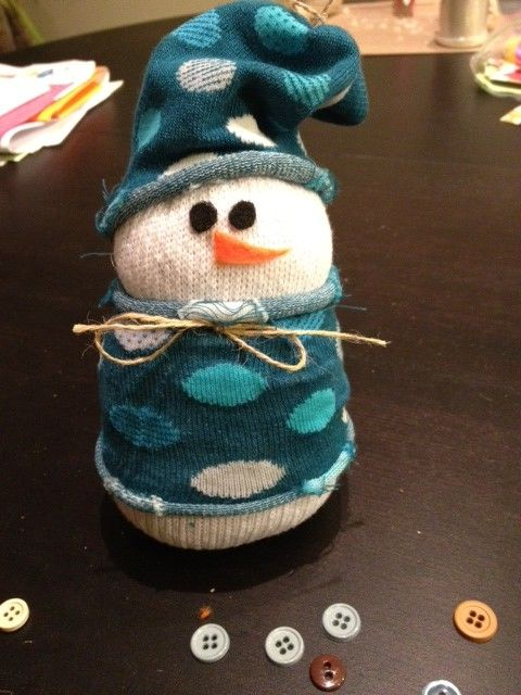 No-Sew Sock Snowman