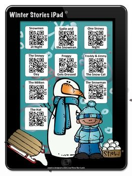 Winter Stories~Listening Center with a Twist!  Students scan the QR Code with a technology device to enjoy a story!  There are nine stories including Snowy Day by Ezra Jack Keats and The Mitten by Jan Brett.  Check out all my iPad and iPod stories in my TpT Store!
