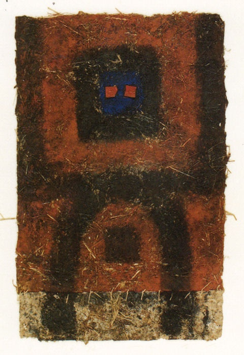 D-24. 1992   By Hayashi, Takahiko:   89x55cm paper and paint collage   by Galerie Tokyo Humanité