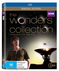 The Wonders Collection Blu Ray. Presented by Professor Brian Cox this out-of-this-world voyage of discovery includes the fascinating series Wonders of the Solar System and Wonders of the Universe.  With incredible images and CGI footage Wonders of the Solar System explains how the laws of physics carved natural wonders across the solar system. $59.99