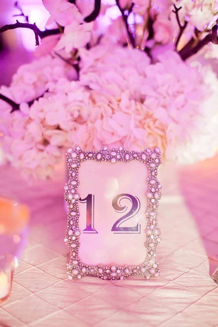 1000 images about table design table numbers on for Glitter numbers for centerpieces