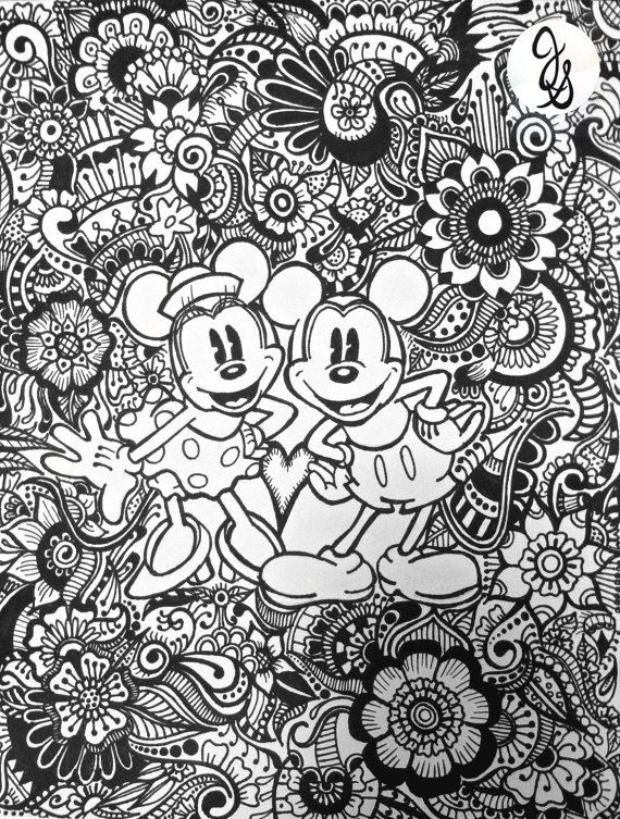 Mickey And Minnie Design By Byjamierose On Etsy