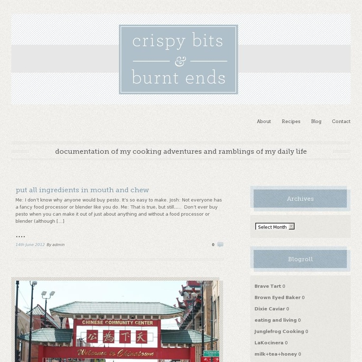 Crispy Bits and Burnt Ends  The website 'crispybitsnburntends.com' courtesy of Pinstamatic (http://pinstamatic.com)