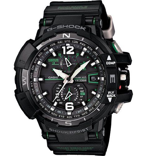 Casio G-Shock GWA-1100-1A3 G-Aviation Series Mens Stylish Watch - Black / One Size