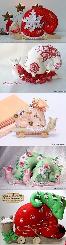 I so want to make a santa snail