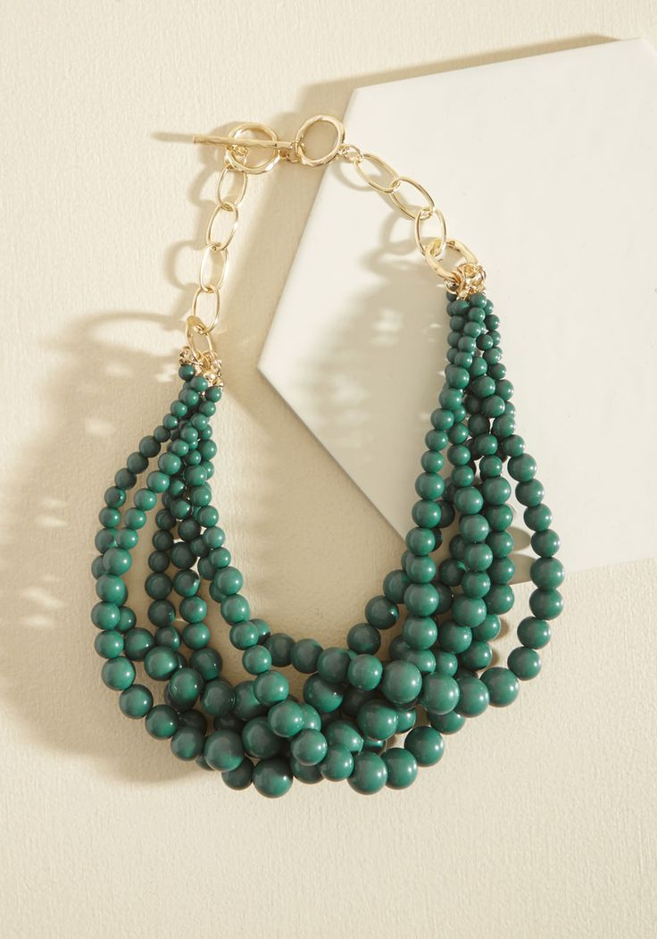 Burst Your Bauble Necklace in Forest - Stocking Stuffers, Under 25 Gifts, Unique Gifts, Green, Gold, Work, Statement, Gold
