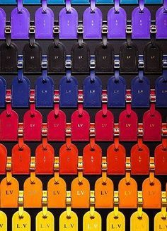 yes please one in purple, blue, pink and black.  Louis Vuitton luggage tags #Louis #Vuitton #Luggage