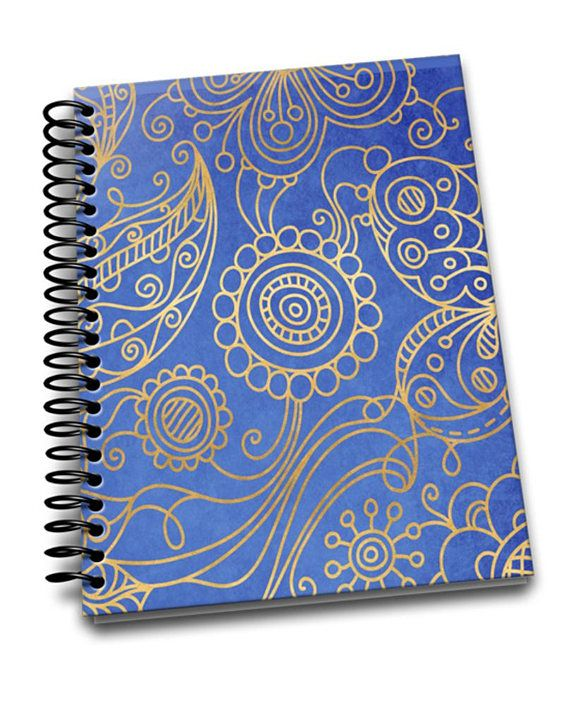 Filigree  8 x 10 Coil Bound  Soft Cover Notebook  Lined