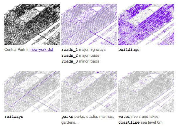 Archivos CAD gratuitos de 241 grandes ciudades del mundo