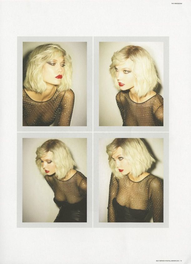 KARLIE KLOSS SELF SERVICE BLONDIE DEBBIE HARRY INSPIRED LOOKS SHORT BLONDE HAIR EDITORIAL PHOTOGRAPHER EZRA PETRONIO STYLED BY SUZANNE KOLLE...